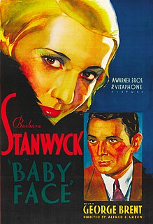 <i>Baby Face</i> (film) 1933 film by Alfred E. Green