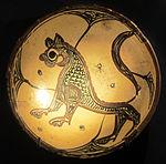 Bacino ceramico da facciata del duomo di s. miniato, nord-africa, 1190 ca. 03.JPG