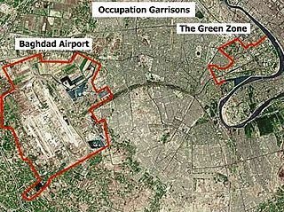 Green Zone area in Baghdad, Iraq