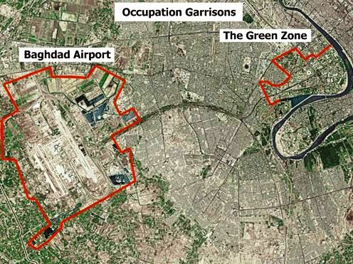 Baghdad - airport and green zone