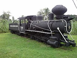 Old locomotive in Bais City