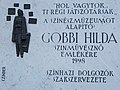 Bajor Gizi Actors' Museum. Plaque of Hilda Gobbi by Antal Czinder. - Budapest.JPG