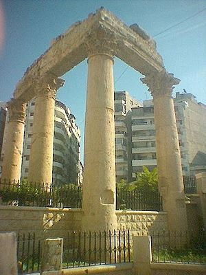 Latakia - Temple of Bacchus in Latakia.