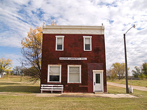 Balfour, North Dakota - Balfour Community Hall and Post Office in Balfour