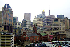 View of Downtown Baltimore from the Utz Buildi...