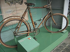 An American bike from 1896. The frame made of ...