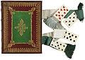Band van rood marokijn met inleg van groen geverfd perkament-KONB12-1756B104.jpeg