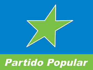 People's Party (Panama) - Image: Bandera Partido Popular