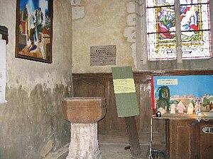 Robert Giguère - Baptismal font at St. Aubin de Tourouvre