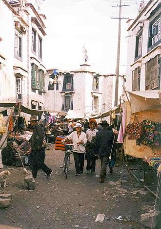 Barkhor - Barkhor street scene, Lhasa. 1993