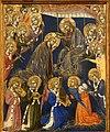 Barnaba da modena, incoronazione della vergine, trinità, madonna col bambino e crocifissione, 1374, 02.jpg