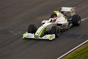 2009 FIA Formula One World Championship - Button's teammate Rubens Barrichello, seen driving the Brawn BGP 001 at Barcelona, finished third in the Championship