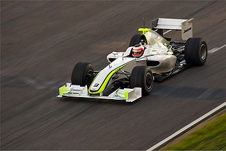 2009 Formula One World Championship - Button's teammate Rubens Barrichello, seen driving the Brawn BGP 001 at Barcelona, finished third in the Championship