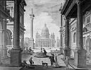 Bartholomeus van Bassen - Square in front of a Magnificent Church - KMSsp355 - Statens Museum for Kunst.jpg