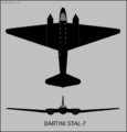 Bartini Stal-7 two-view silhouette.png