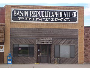 National Register of Historic Places listings in Big Horn County, Wyoming - Image: Basin republican rustler