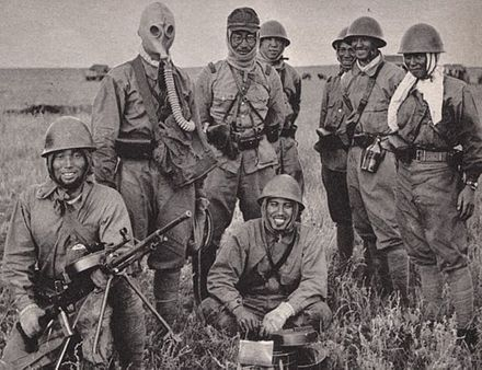 Japanese soldiers with captured Soviet equipment Battle of Khalkhin Gol-Japanese soldiers.jpg