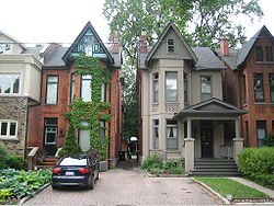 Bay-and-gable houses in The Annex