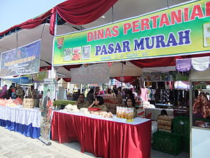 Lebaran - Ramadhan bazaar selling various products to celebrate Ramadhan and Lebaran.