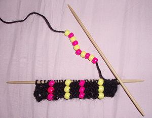 Flat knitting - Flat knitting on double pointed needles