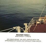 Scala Beaufort, forza 1