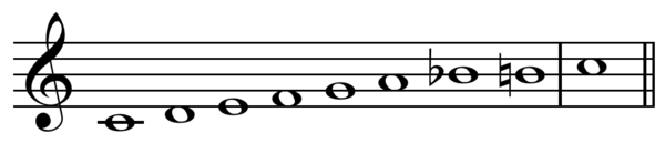Bebop dominant scale on C