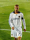 David Beckham playing for LA Galaxy in 2008