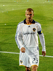 14b8c0310 Beckham playing for LA Galaxy in March 2008