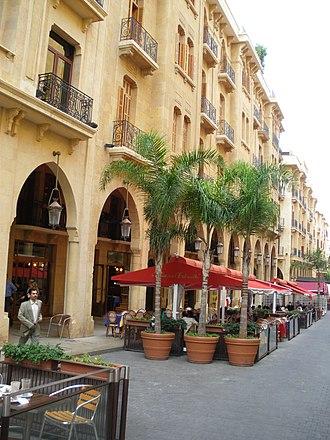 Rue Maarad - Sidewalk cafes along Maarad street