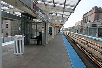 Belmont station (CTA North Side Main Line) - Image: Belmont cta station