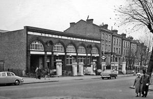 Belsize Park tube station - Station entrance in 1960
