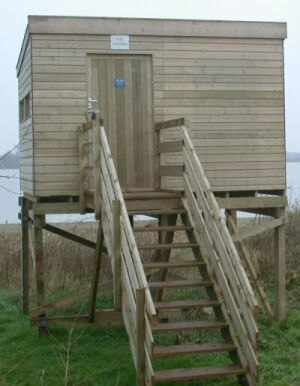 Bird hide - The 'Gazebo' hide at the West Midland Bird Club's Belvide Reservoir reserve.