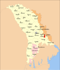 Map of Moldova highlighting Bender