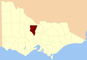County of Bendigo - Location in Victoria