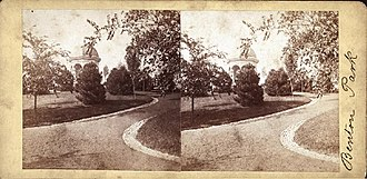 Benton Park, St. Louis - Benton Park.  VM90-000211. Stereograph photograph by Boehl and Koenig, ca. 1875 . Missouri Historical Society Photographs and Prints Collections.