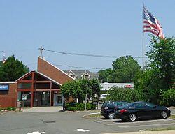 Berkeley Heights NJ giant flag near Plainfield & Springfield Avenues