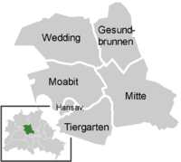 District map of Mitte