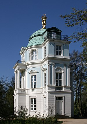 "Teahouse - End view of the teahouse ""belvedere"" of the Charlottenburg Palace"