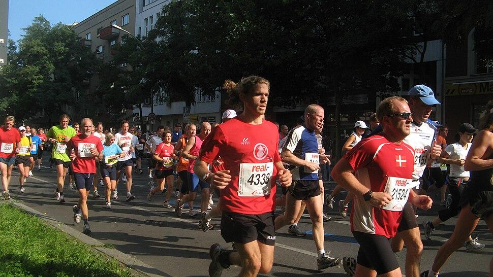 Berlin marathon das gruppenbild