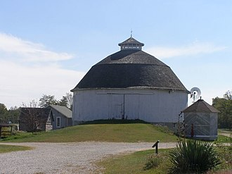 Richland Township, Fulton County, Indiana - The Bert Leedy Round Barn, a historic site in the township