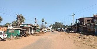 Bhamragad - Main street of Bhamragad