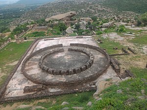 History of Rajasthan - The Remains of a very flourishing Buddhist Stupa reminding of the areas's Buddhist past as well.