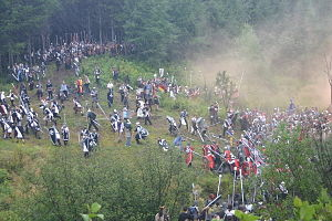Bicolline - Players taking part in the Great Battle of Bicolline in 2005