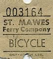 Bicycle Ferry Ticket St Mawes Ferry Company, Falmouth. - Flickr - sludgegulper.jpg