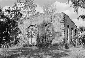 National Register of Historic Places listings in Berkeley County, South Carolina - Image: Biggin Church (Ruins), Cooper River, West Branch, Moncks Corner vicinity (Berkeley County, South Carolina)