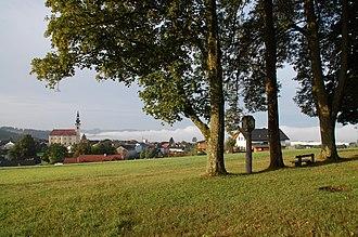Hofkirchen im Mühlkreis - Image: Bildstock bei der alten Wasserbassaine