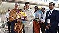 Bill gates with CBN and district Collector Praveen kumar at Visakhapatnam.jpg