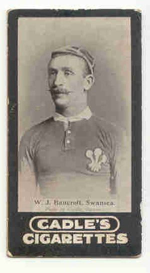 Billy Bancroft - Bancroft in his Wales rugby jersey