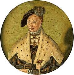 Portrait of Dorothea of Denmark (1504-1547).