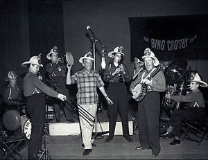 Firehouse Five Plus Two - The band with Bing Crosby for an appearance on his CBS radio program, 1950.